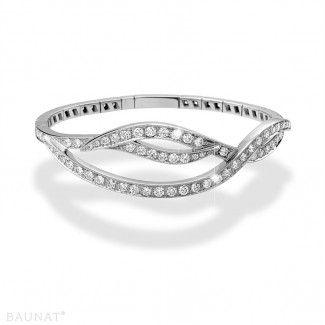 White Gold Diamond Bracelets - 3.32 carat diamond design bracelet in white gold