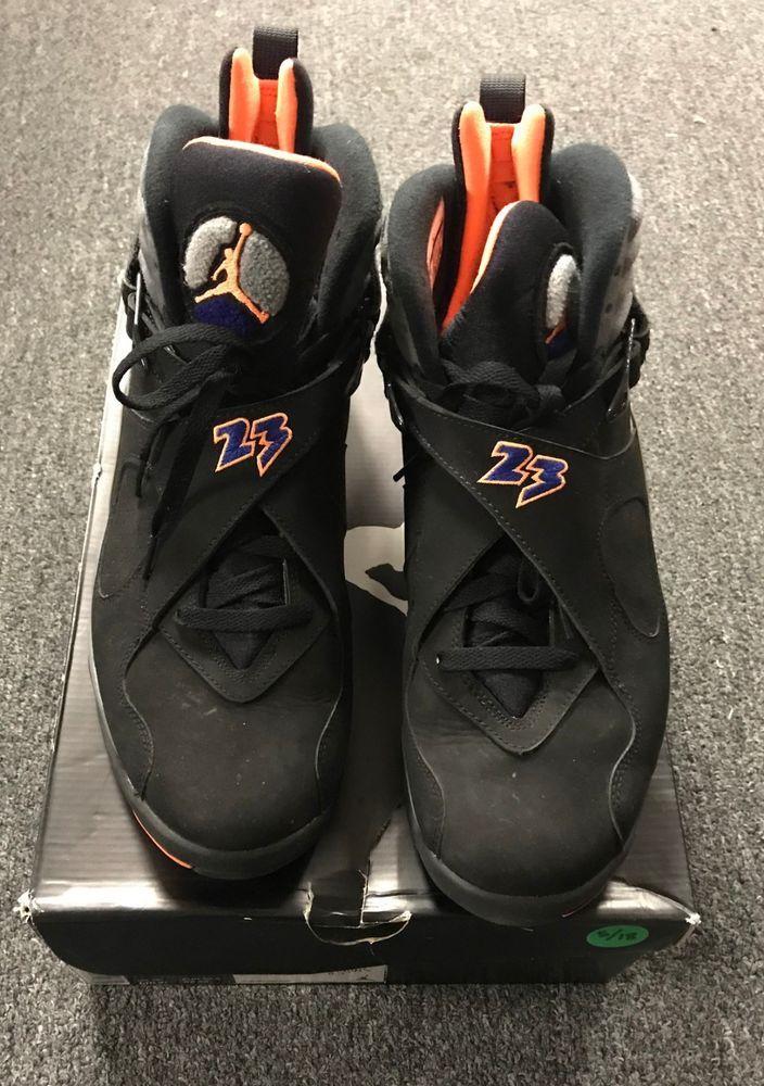 sports shoes b6dac 7fe56 Air Jordan 8 Retro VIII Phoenix Suns Black Shoes Size 13 - Gently Used w