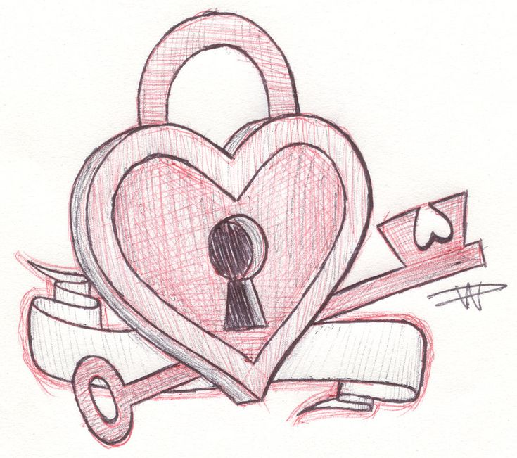 Heart Drawings: Key To My Heart Sketch By ~FalloutLuver13
