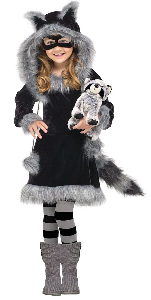 Sweet Raccoon Toddler Girls Halloween Costume Size $39.99