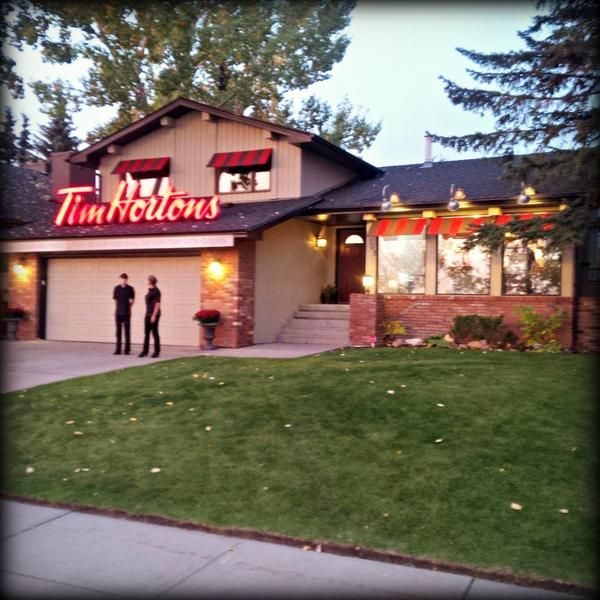 A House Was Transformed Into A Tim Hortons And It May Be The Cutest And Most Canadian Thing Ever