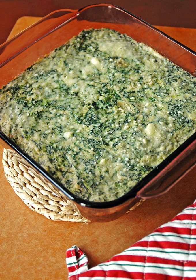 Creamed Spinach and Artichoke Casserole - Cooking with Mamma C - #Thanksgiving