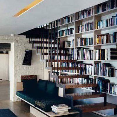 Privat, Bücherregal Ideen, Bücherregale, Treppenhaus Bücherregal, Loft  Einrichtung, Bibliotheksdesign, Unter Der Treppe, Einfache  Inneneinrichtung, Treppen