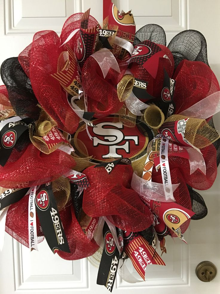 A personal favorite from my Etsy shop https://www.etsy.com/listing/480007380/nfl-san-francisco-49ers-wreath