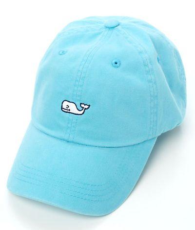 Vineyard Vines Whale Logo Baseball Hat- I like in pink, slate and navy blue:)