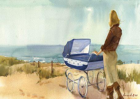 «Я – мама». Вероника Калачева. #helloposter #poster #posters #art #modernart #printart #illustrators #illustration