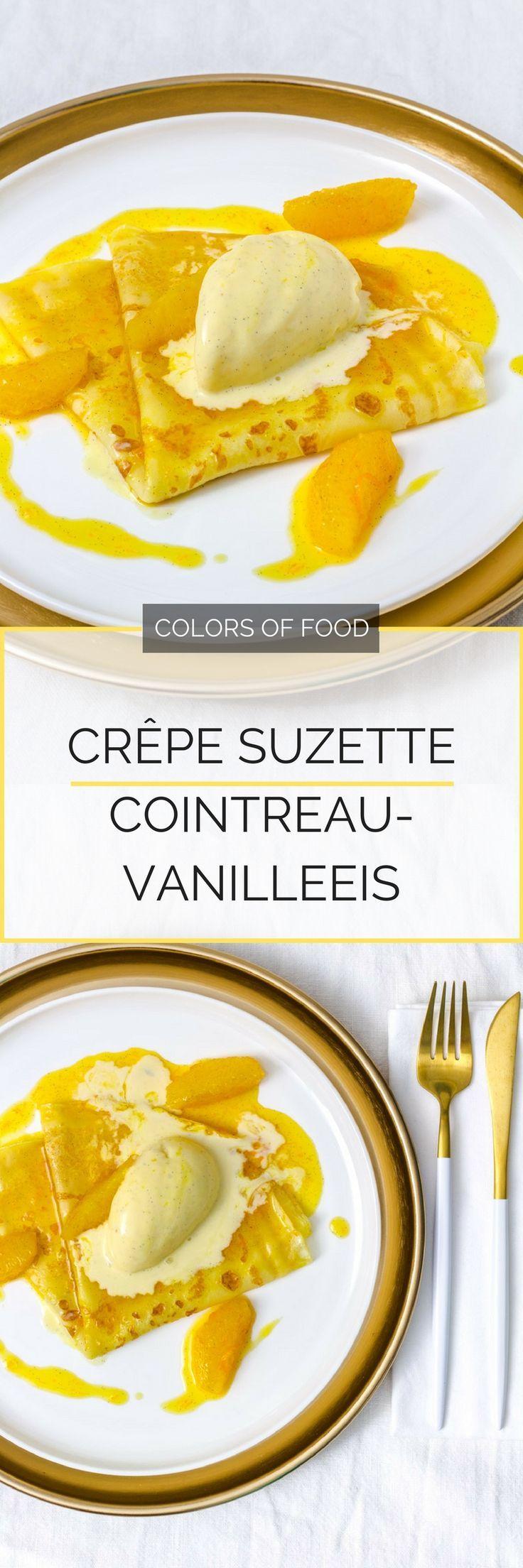 Hier findest du das Rezept für einen absoluten Dessert-Klassiker der französischen Küche. Crêpe Suzette. Hauchdünner Pfannkuchen in Orangensauce.