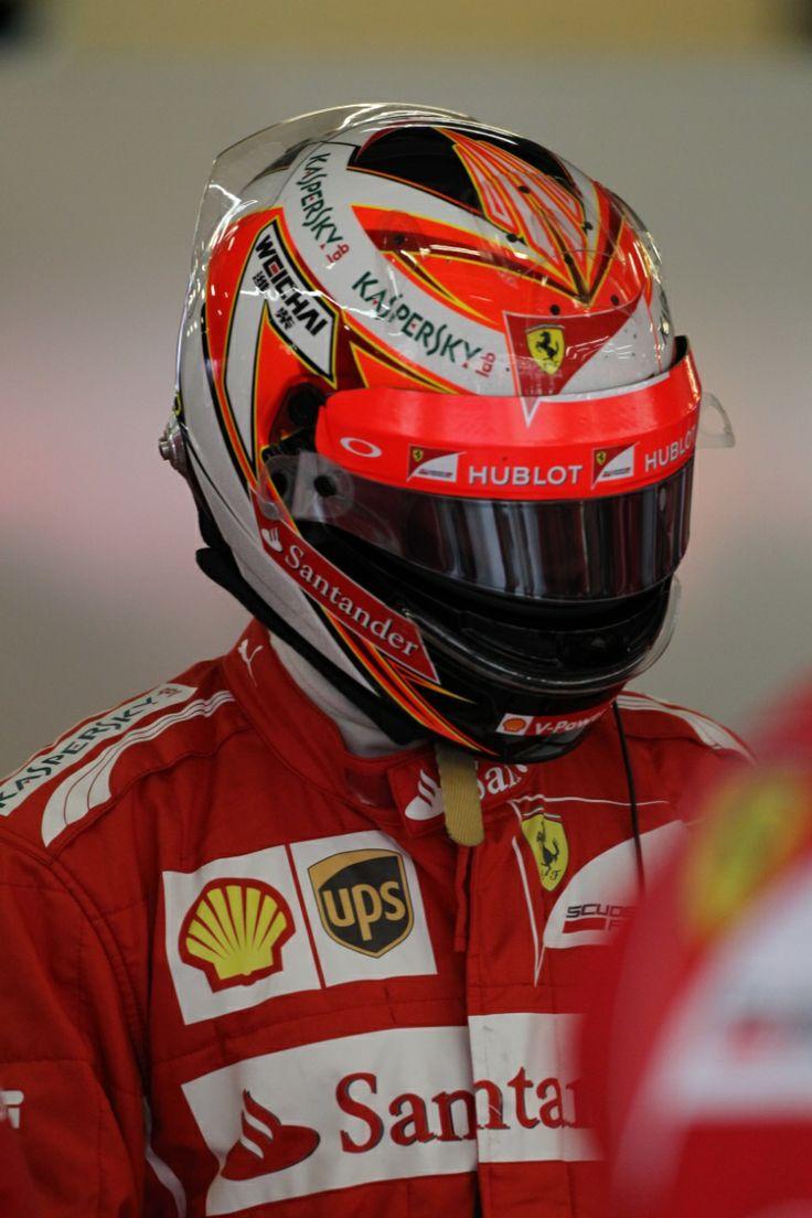 Kimi Raikkonen Ferrari 2014 Crash Helmets Pinterest