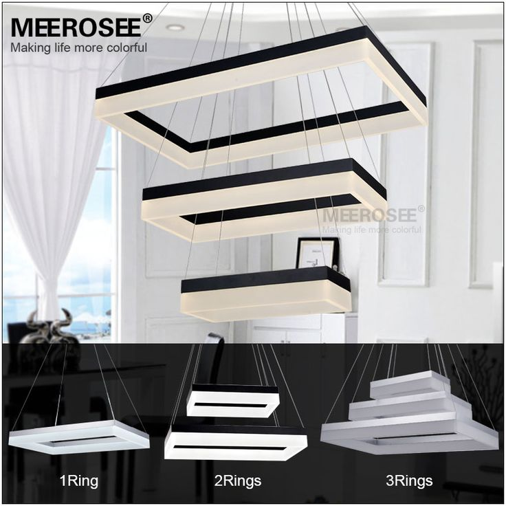 Find More Pendant Lights Information About Rectangle Black Silver LED Light Fixture Lustre Suspension