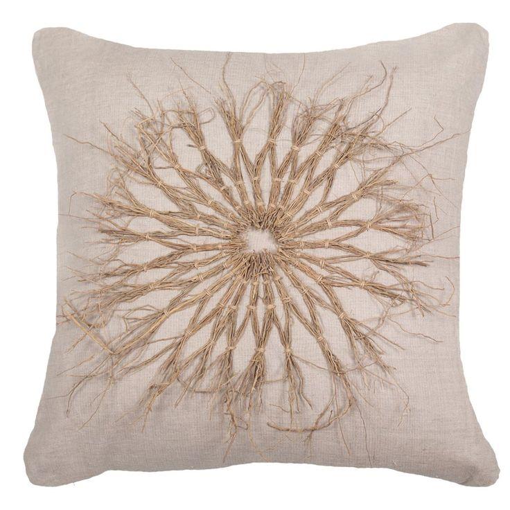 Twigs Natural Linen Lounge Cushion 55x55cm