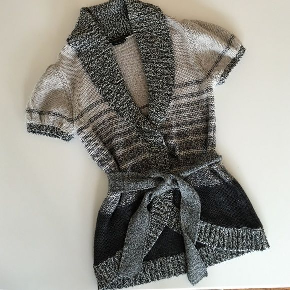 BCBG knit cardigan wrap jacket vest BCBG knit cap sleeve sweater BCBG Jackets & Coats Blazers