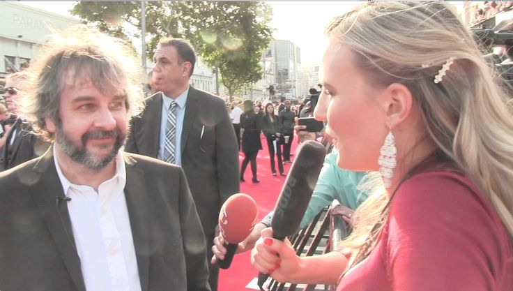Brigitte Masters interviewing Sir Peter Jackson