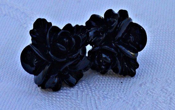 Beautiful Polymer Clay Roses Stud Earrings by CelestialStudio13, $12.32