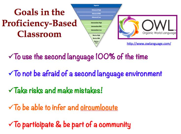 The Proficiency-Based Foreign Language Classroom; Organic World Language (OWL)