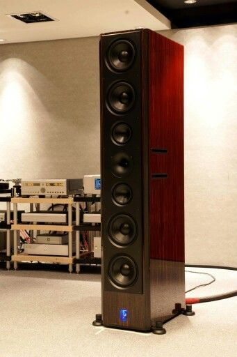 Lansche No7 Speakers Driven By Boulder Electronics