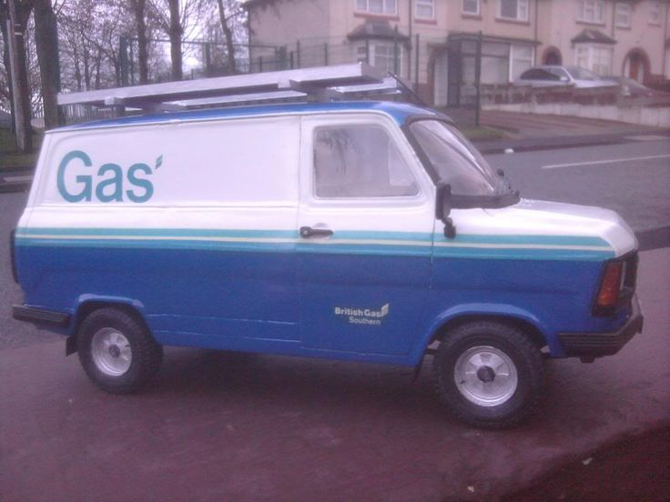 Old British Gas van