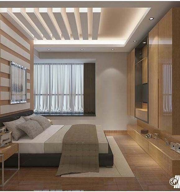 Stylish Pop False Ceiling Designs For Bedroom