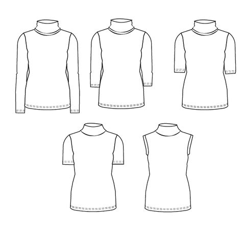 ruched sleeve womens top pdf pattern