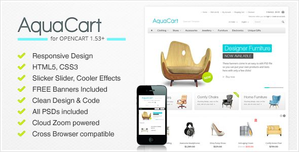 Shopping AquaCart - a Premium Responsive OpenCart Templateso please read the important details before your purchasing anyway here is the best buy