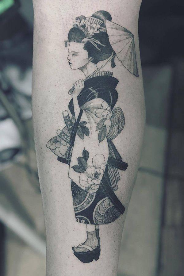 Japan Woman Tattoo For Women By Kubrick Ho Taiwan China Tattoo Kits Tattoos For Women Tattoo Supplies