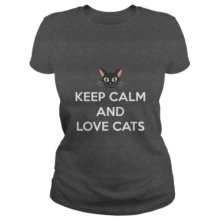Keep Calm and Love Cats t-shirt - https://www.sunfrog.com/20160613-141401-160563650.html?68704