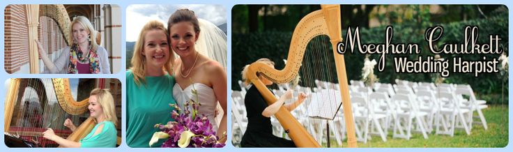 Are you hiring a solo harp player for your wedding ceremony? Contact Meghan Caulkett, harpist. www.meghancaulkett.com