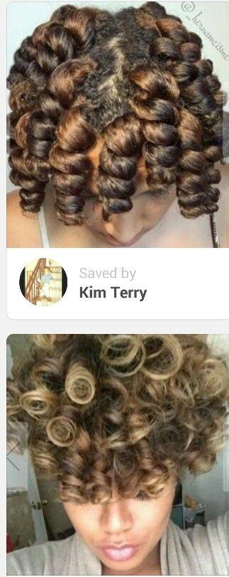 Bantu knot twist set & result KinkyCurlyRelaxedExtensionsBoard