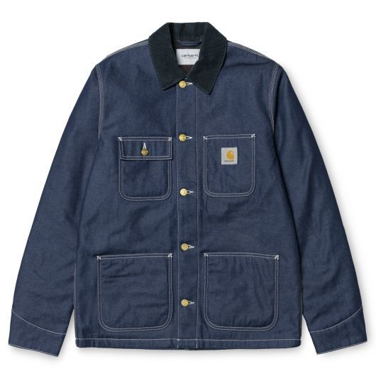 "CARHARTT WIP Veste ""Michigan Chore Coat"" narco blue rigid denim 179,00 € #skate #skateboard #skateboarding #streetshop #skateshop @playskateshop"
