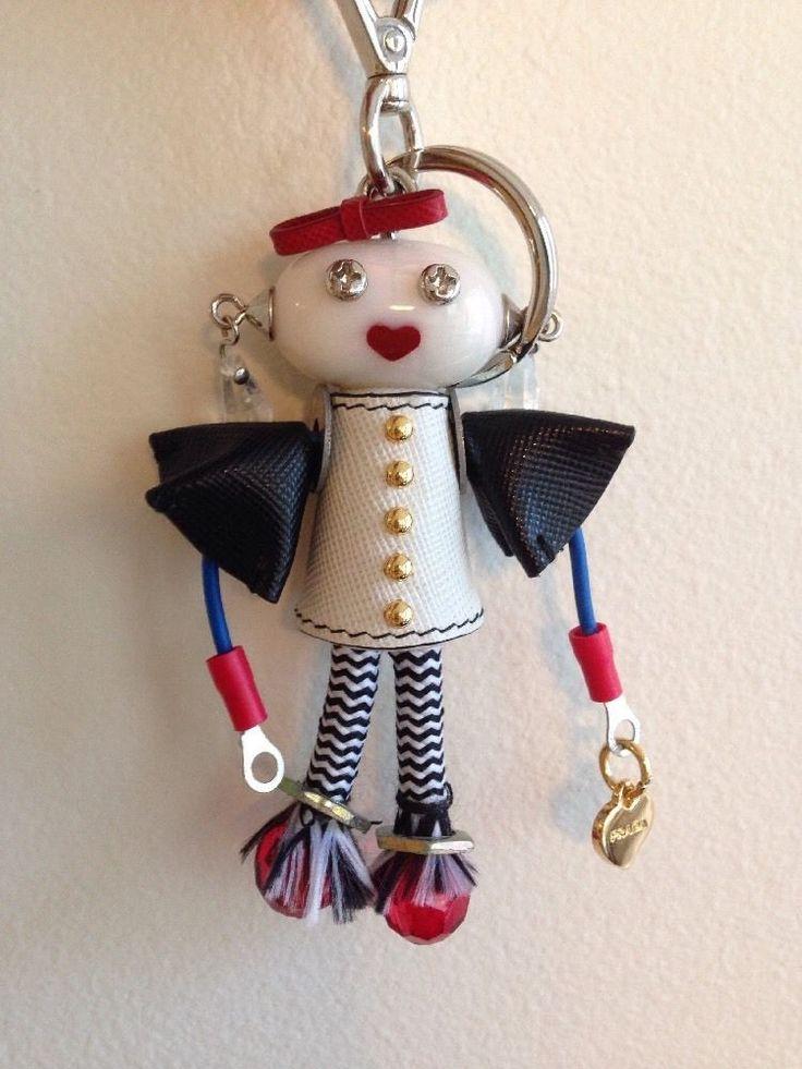 Prada Key chain/ Key ring Purse Charm Nuts And Bolts Robot Girl #PRADA #robot #collector