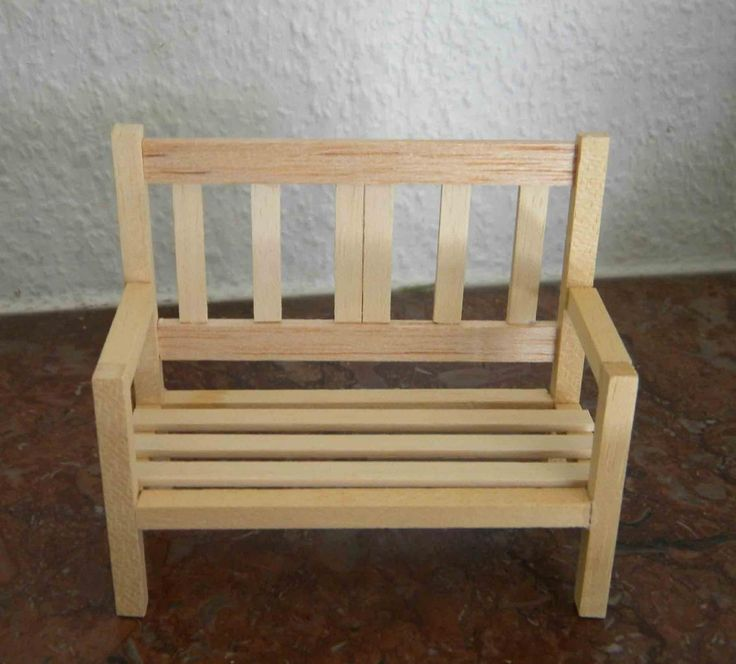 miniature doll furniture. how to make a miniature garden bench this tutorial needs be translated doll furniture o