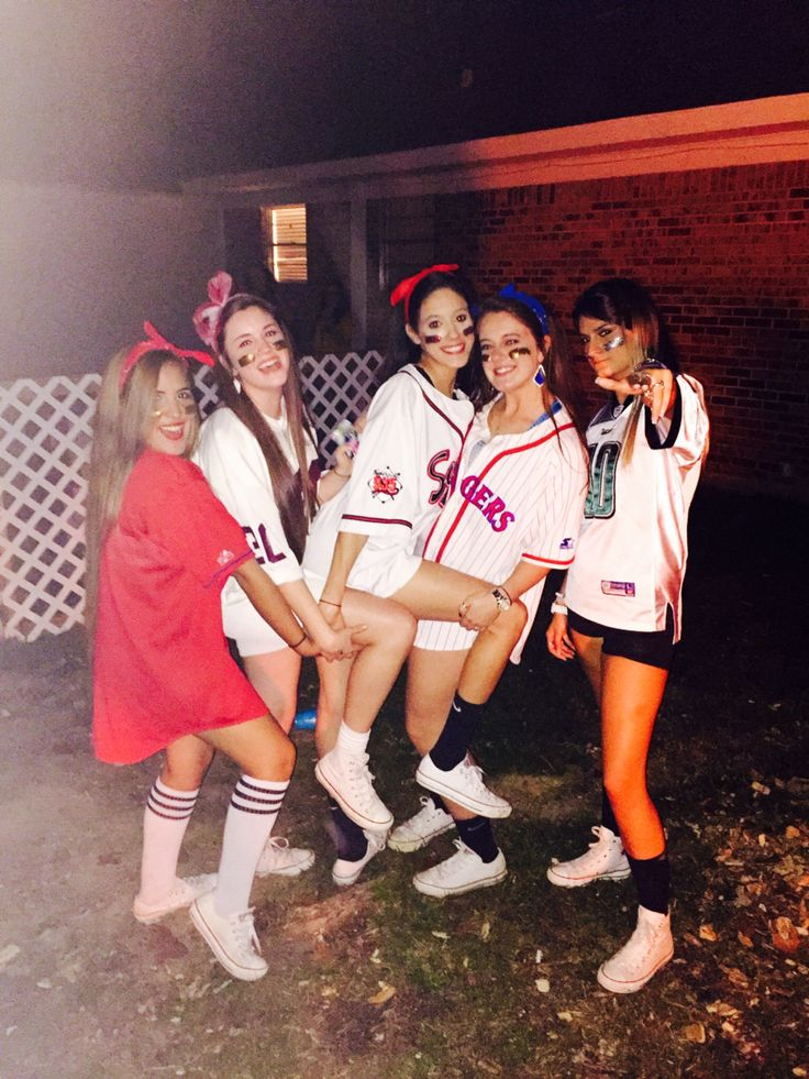 cute halloween outfit baseball babes - Awesome College Halloween Costumes