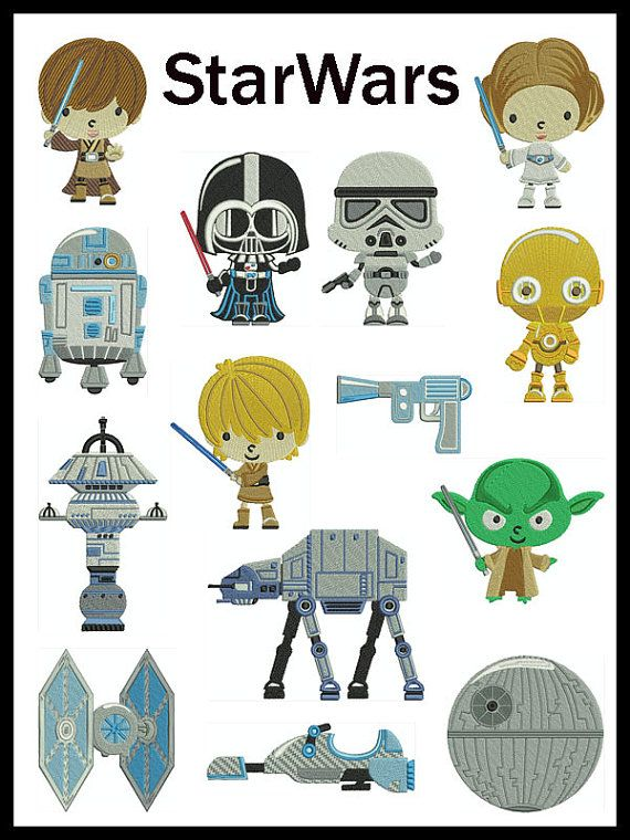 Lego Star Wars Filled Set Embroidery Design Embroidery Designs To