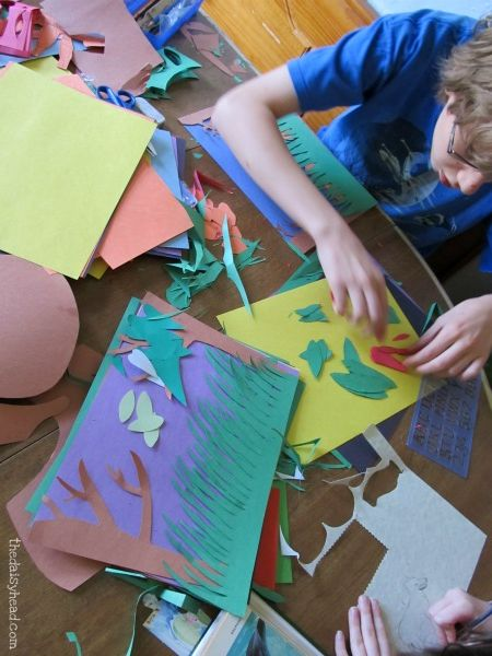 See the Light Art Projects Paper Jungle - lesson on Henri Rousseau (2)