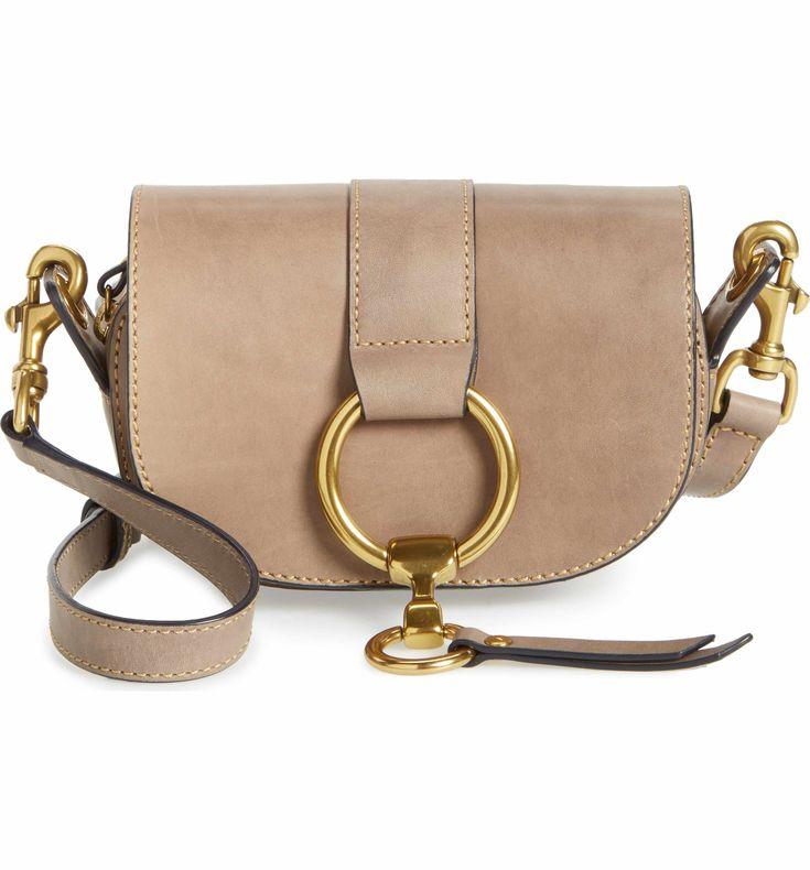 Main Image - Frye Mini Ilana Harness Leather Saddle Bag