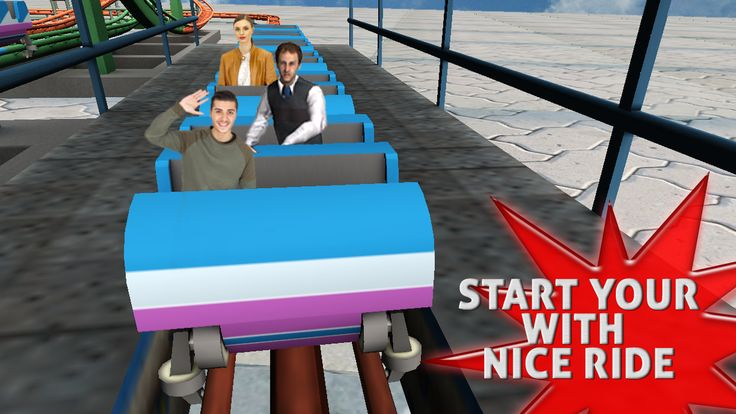 Amazing rollercoaster sim 3D- screenshot