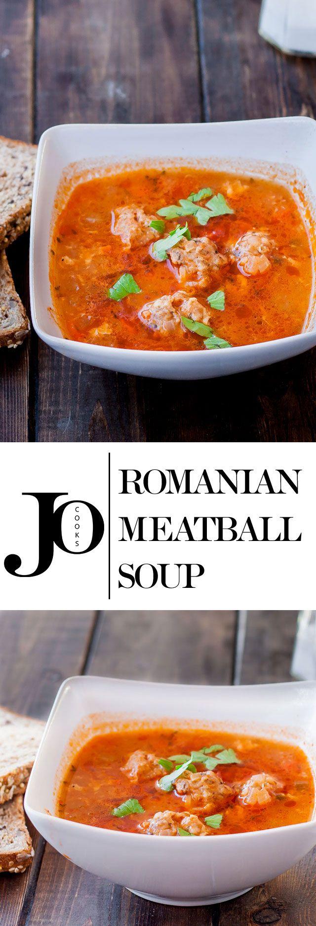 Romanian Meatball Soup (Ciorba de Perisoare) - a traditional Romanian meatball soup.