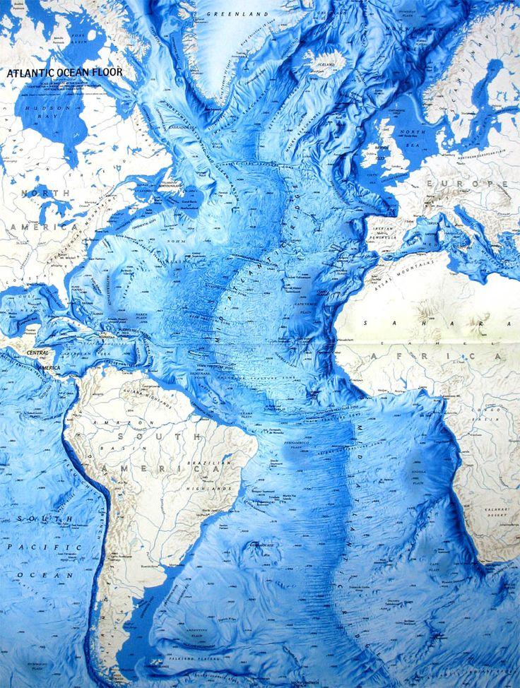 Ocean Floor Relief Maps | Detailed Maps of Sea and Ocean Depths