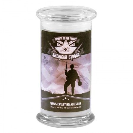 American Strong is a woody, earthy mix of vanilla and sandalwood, warmed with musk and a touch of patchouli for a calming and long lasting scent.