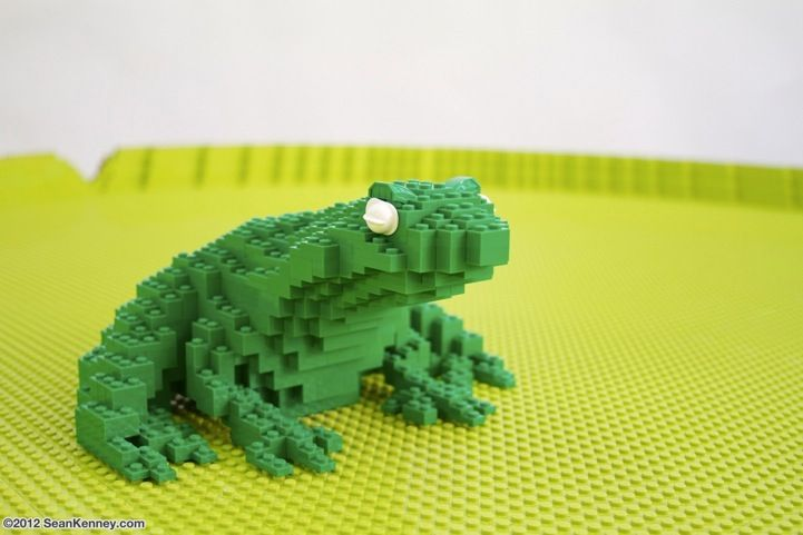 This frog is part of a Zoo Filled with Life-Sized LEGO Animal Sculptures