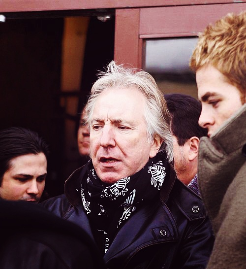 Alan Rickman with Chris Pine in Bottle Shock (which is soo good by the way)