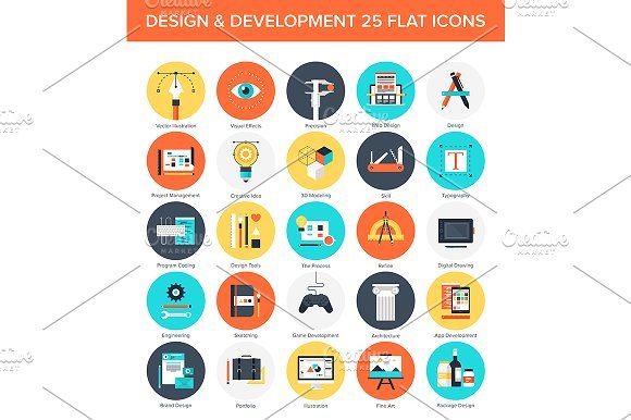 Design and Development Icons. by vasabii on @creativemarket