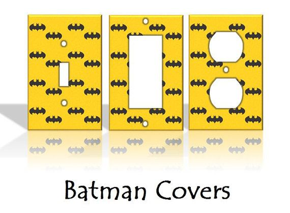 Batman Light Switch Covers Wallplates Switchplates Home Decor Outlet 14 STYLES AVAILABLE