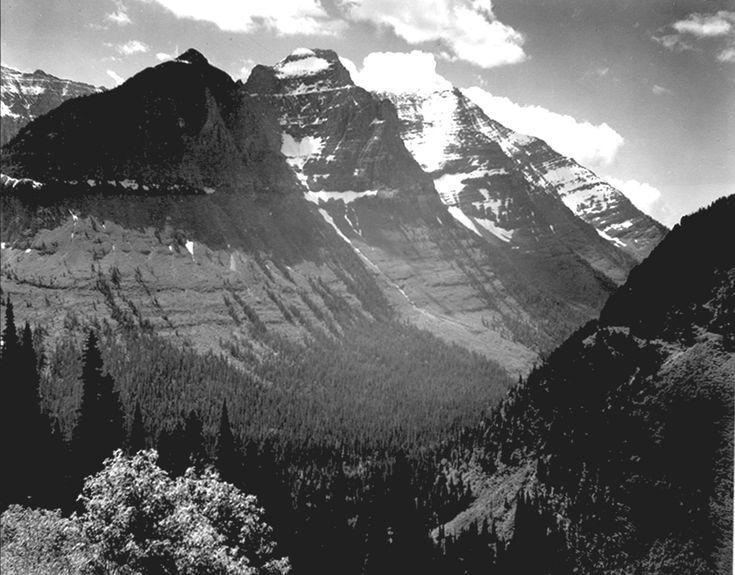 In Glacier National Park • Ansel Adams