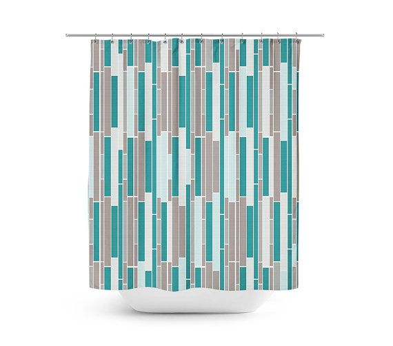 Shower Curtain Subway Tile Shower Curtain Bath by HLBhomedesigns