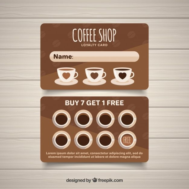 Download Modern Coffee Shop Loyalty Card Template For Free Loyalty Card Coffee Loyalty Card Template Loyalty Card