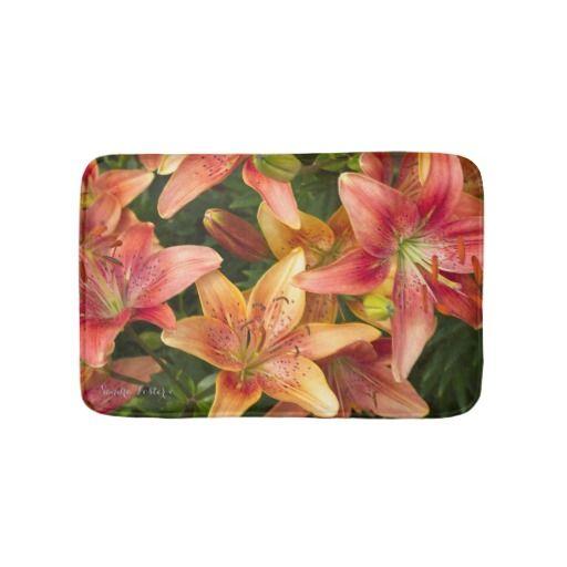 Garden Lilies Bath Mats