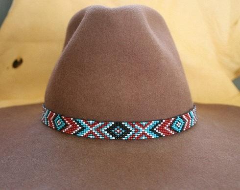 bead pattern: Hats Headbands, Design Beads Patterns, Beaded Hat Bands, Bead Patterns, Bands Design Beads, Design Patterns, Indian Beads Hats Bands, Bands Patterns, American Beads