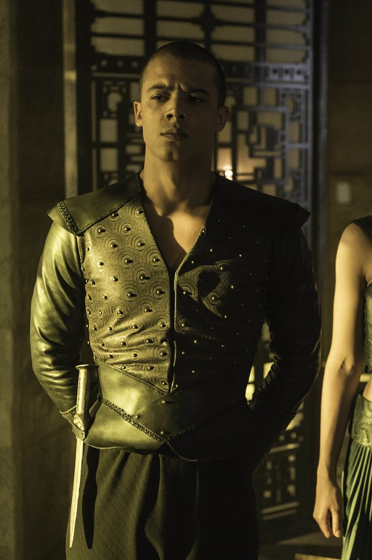Grey Worm played by Jacob Anderson (aka Raleigh Ritchie)