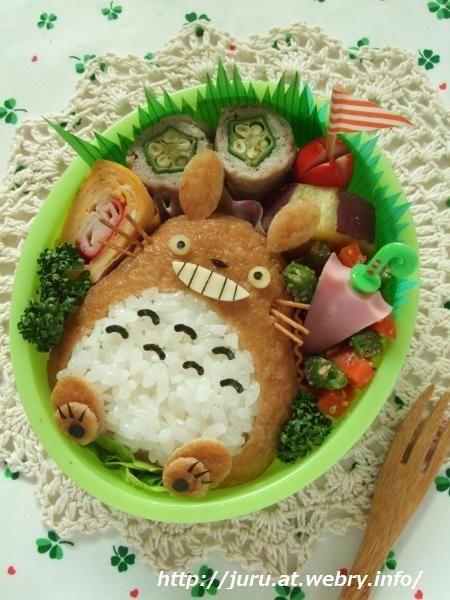 「となりのトトロ☆トトロ稲荷」弁当 - スタジオジブリの癒し系トトロおいなりさん | キャラ弁まにあ - キャラ弁レシピや作り方を検索&投稿