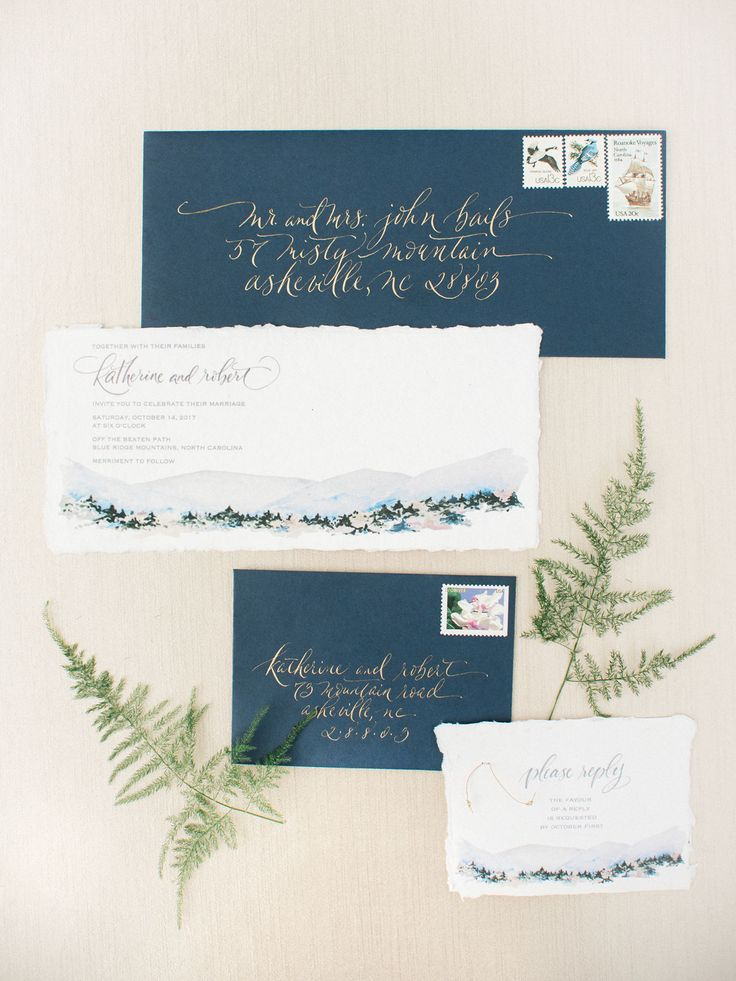 custom wedding invitations nashville%0A Wedding Inspiration in the Blue Ridge Mountains